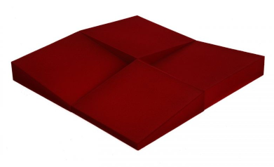 espuma absorbente roja